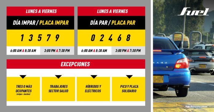 Pico y Placa Bogota 2020