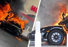 McLaren 765LT incendio