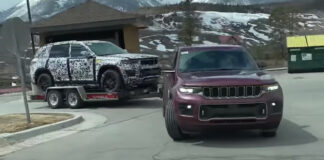 Jeep Cherokee remolcado