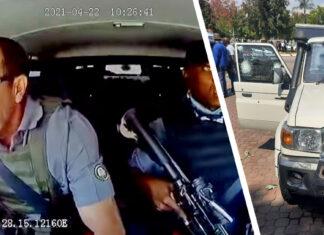Video escape carro blindado