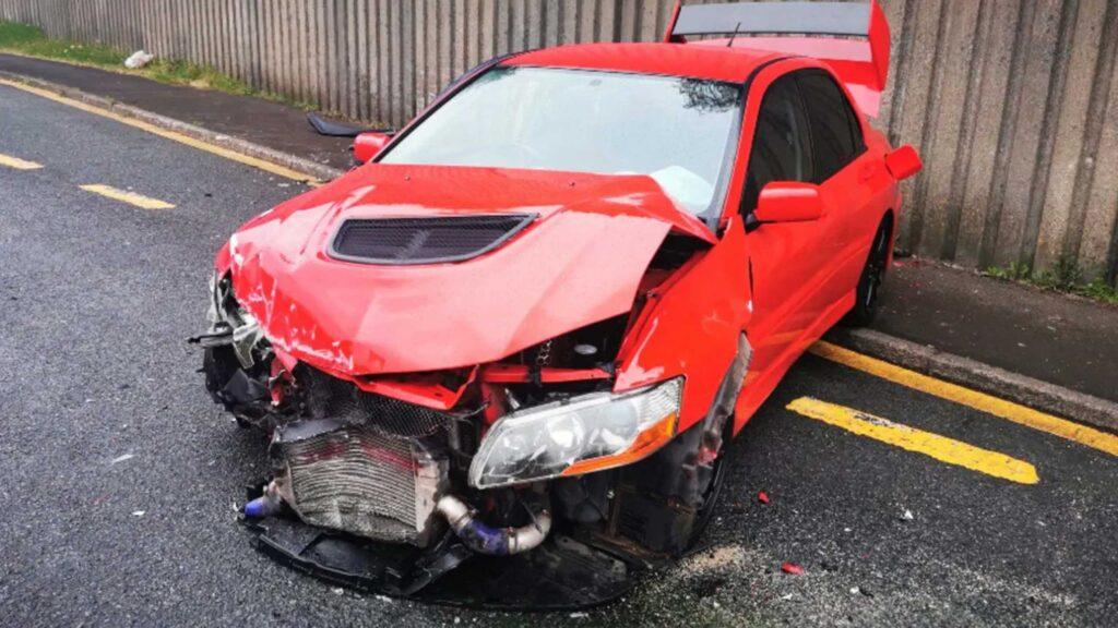 Mitsubishi Evo Accidente 7