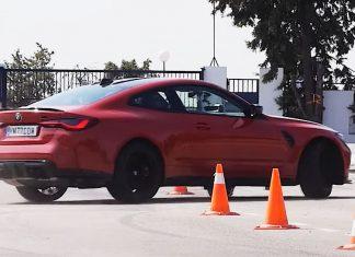 BMW M4 moose test