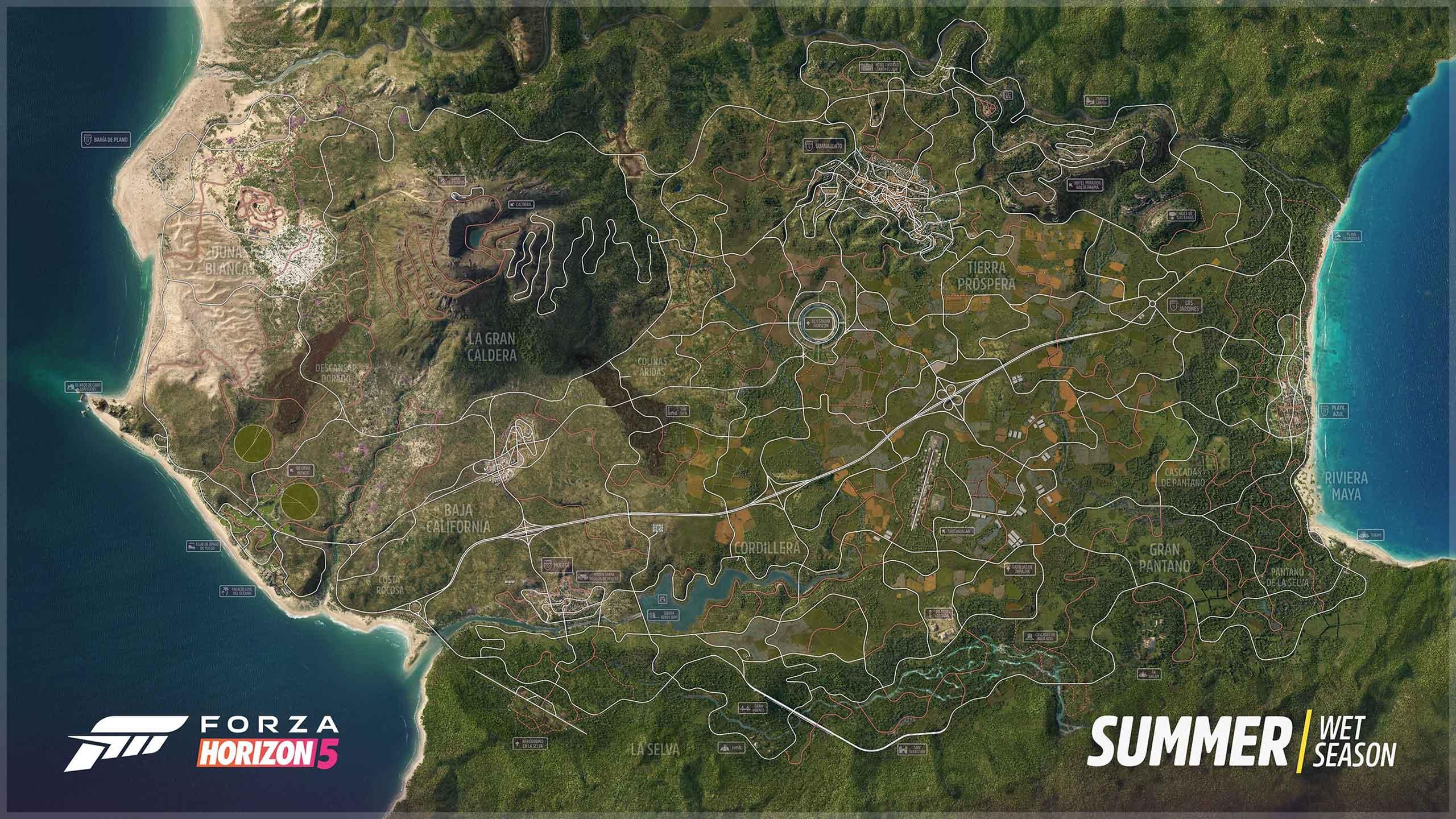 Mapa Forza Horizon 5