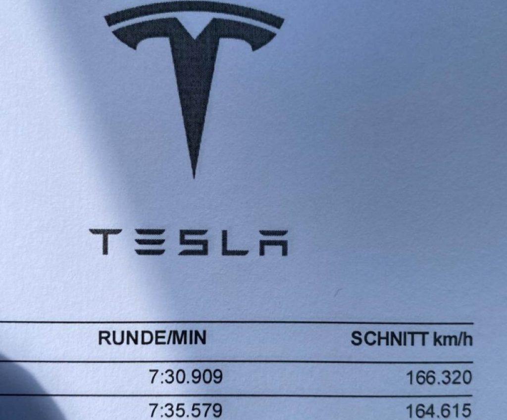 Tesla Model S Plaid Nürburgring 1