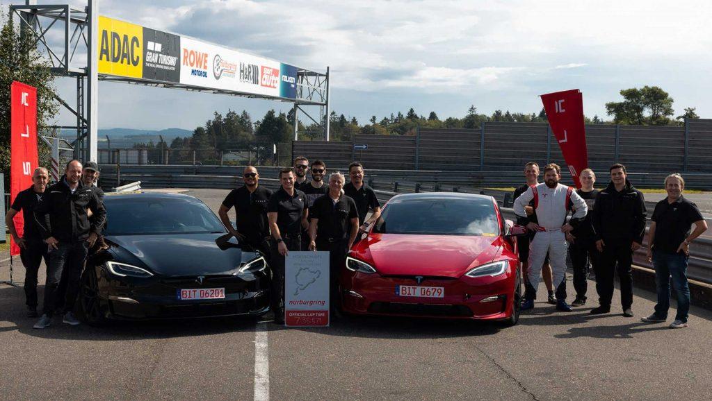 Tesla Model S Plaid Nürburgring 2