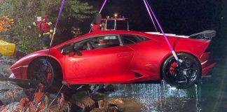 Lamborghini accidente lago